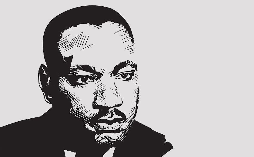 Artistic portrait of Dr. Martin Luther King Jr.
