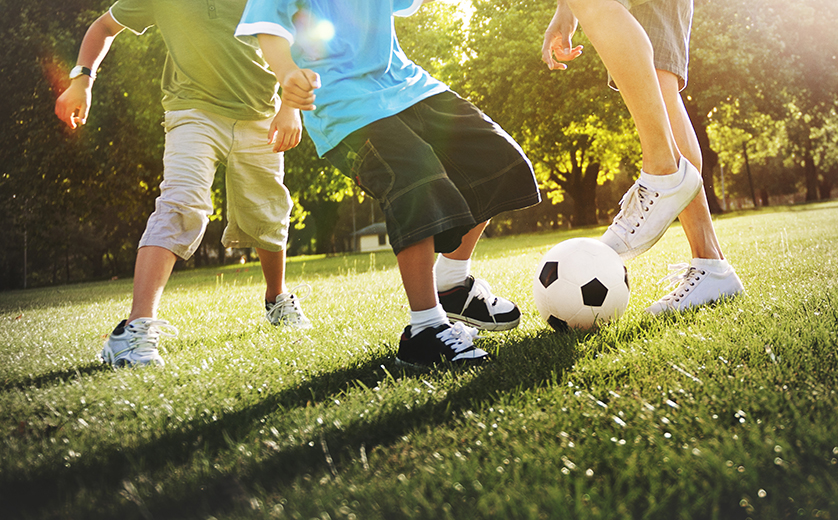Active Kids playing soccer