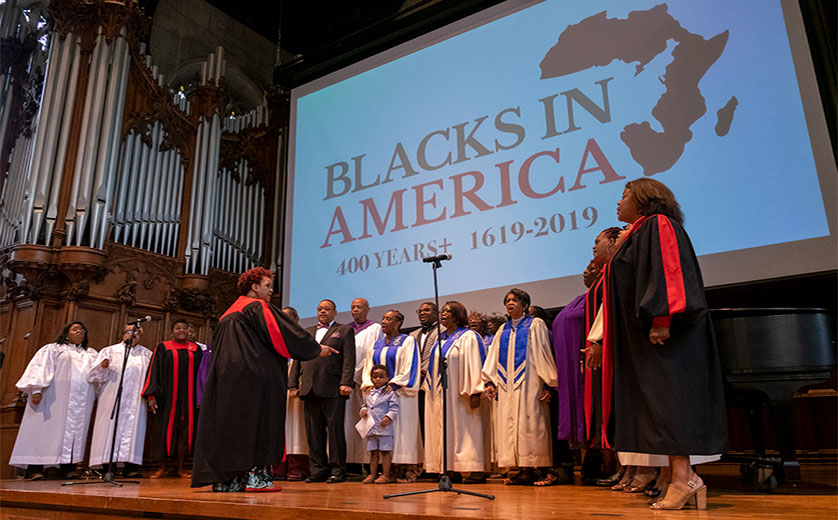AME Choir performs at 400 Years event