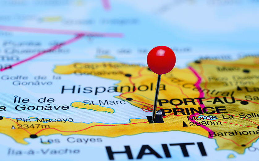 Haiti is pictured on a map of the region.