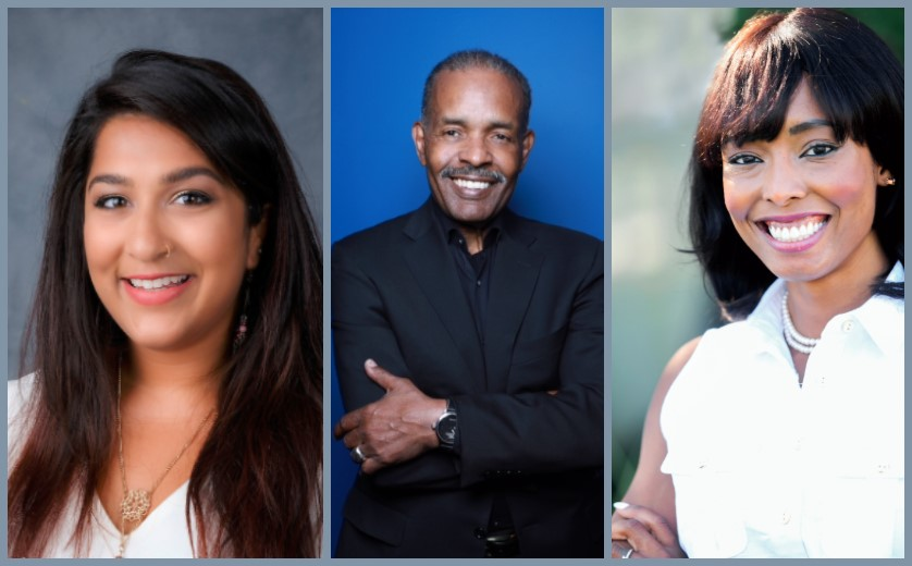 Photo Compilation of speakers Aishwarya Nagar, Joe Madison and Cora Faith Walker