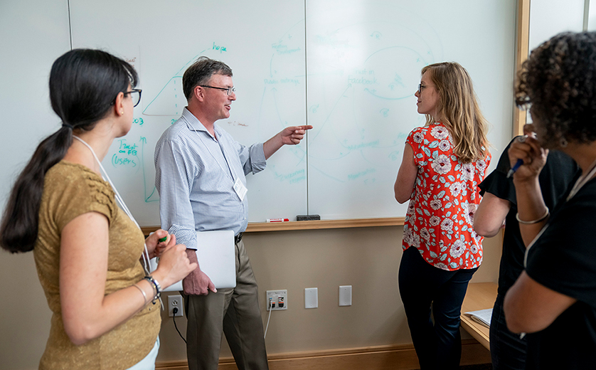 Participants engage during Systems Science for Social Impact Summer Institute