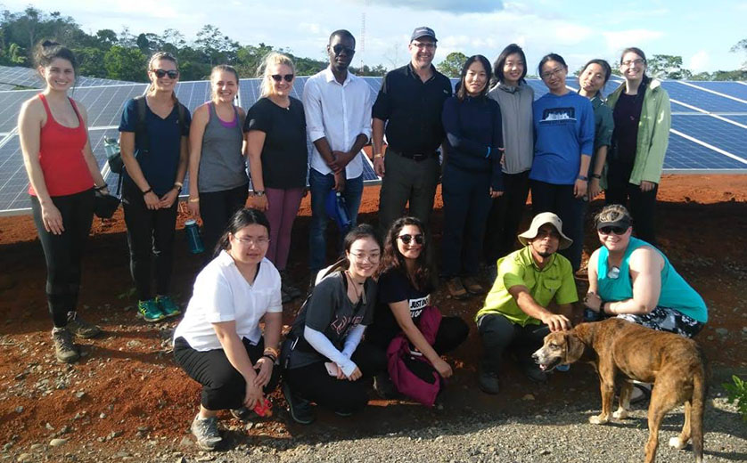 Associate Professor of Practice Joe Steensma and students in Costa Rica
