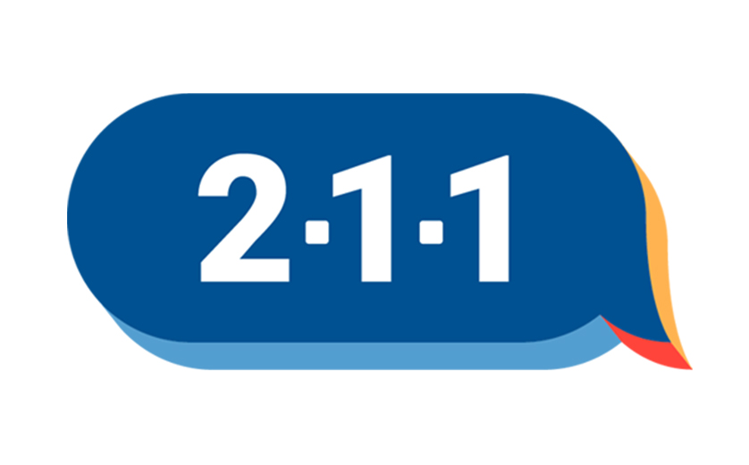United Way  2-1-1 logo