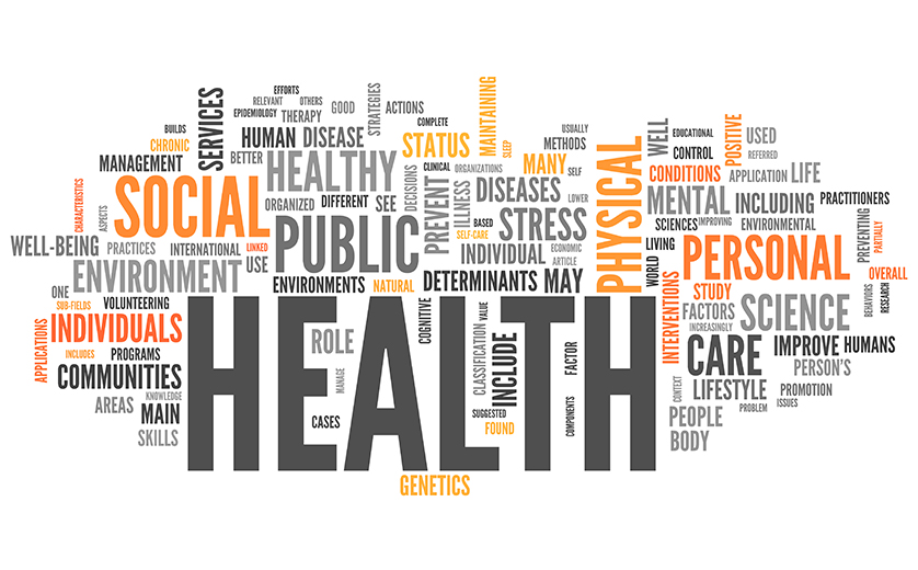 A word cloud with public health as the featured phrase.