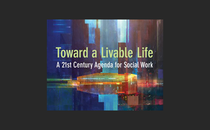 "Cover of new book by Mark Rank, ""Toward a Liveable Life"""