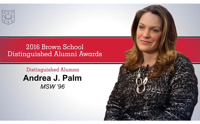 Andrea Palm featured as Distinguished Alumni Awardee