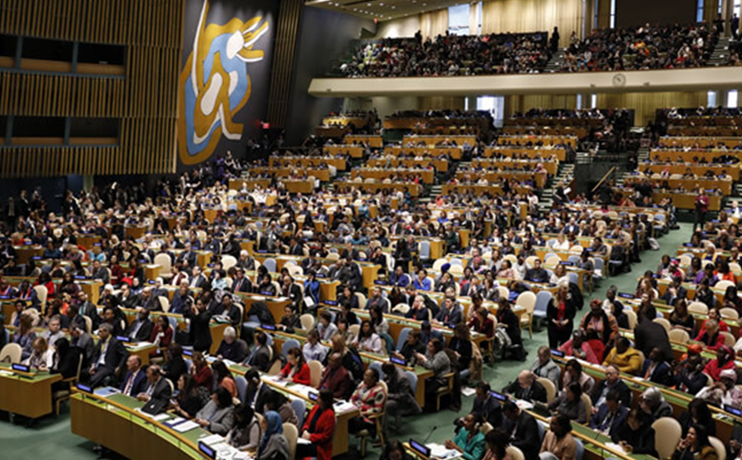 Photo of delegates from United Nations Commission on the Status of Women, 2021 - copyright Ryan Brown