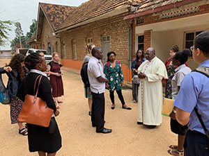 Students visit ICHAD in Uganda.
